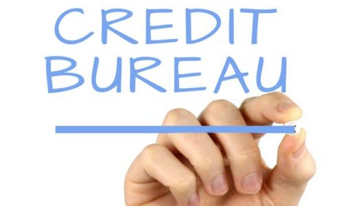The credit bureau contact information of Equifax, Experian, Trans Union