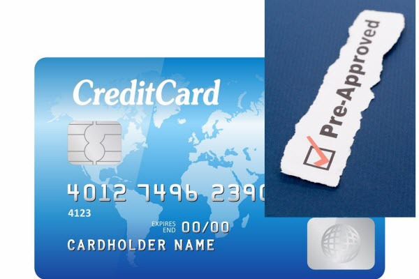 Pre-approved credit cards